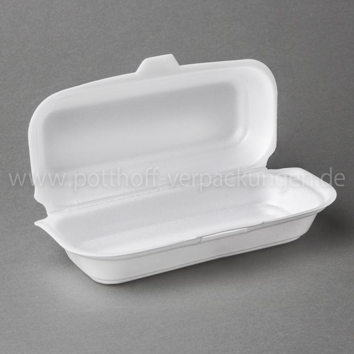 Hot-Dog-Box, weiß 95mmX210mmX65mm Image