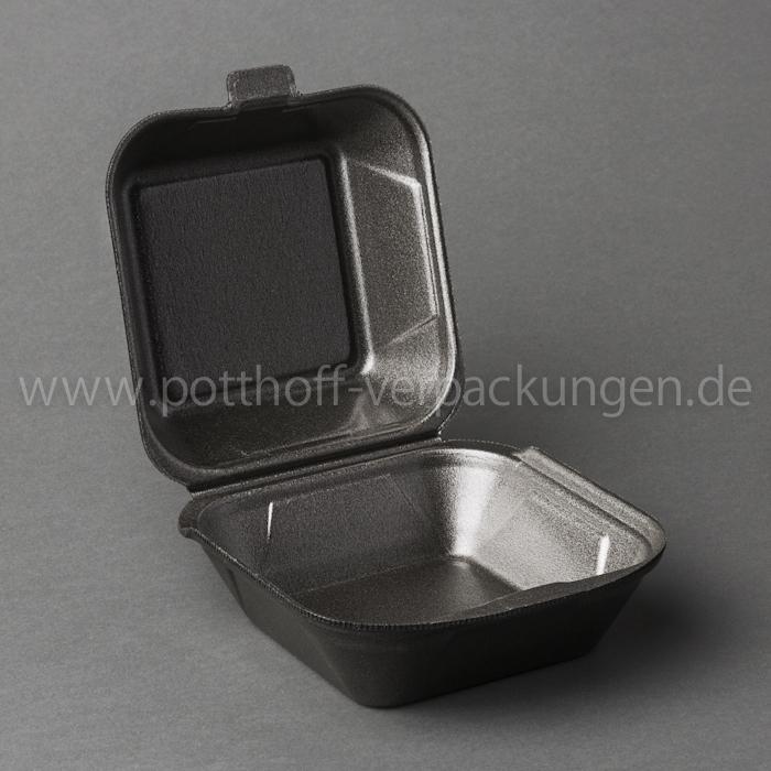 Hamburger-Box, groß, anthrazit 133mmX145mmX74mm Image