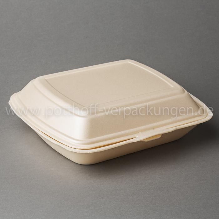 Menü-Box, 2tlg., beige 240mmX195mmX72mm Image